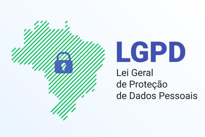 mapa do brasil com escrito lgpd lei geral de proteção de dados pessoais